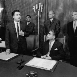 Federal Minister of Economic Cooperation Eppler Germany 1969