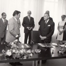 Signing of Protection of Investments in German Foreign Ministry 1974