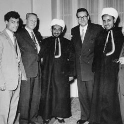 Visiting the Krupp Factories in Essen Germany 1953 with Prince AlHassan Son of Imam Yahya