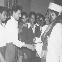 Prince Abdullah Son of Imam Yahya in Helwan Egypt 1953