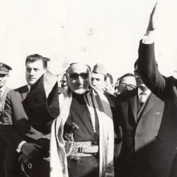 With President Sadat of Egypt 1969