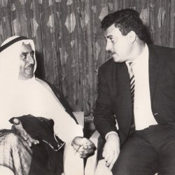 With the Amir of Kuweit, the Foreign Minister in 1969