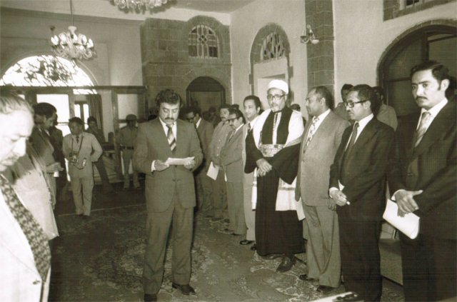 Sworn in as Minister of Economy and Industry 1984
