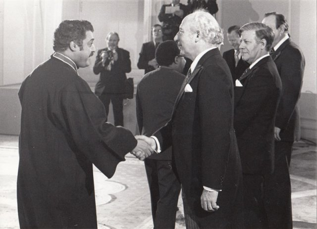 German President Walter Scheel and Chancellor Helmut Schmidt1976